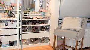 ikea storage solutions dose of lisa pullano my makeup tour u0026 storage ideas beauty
