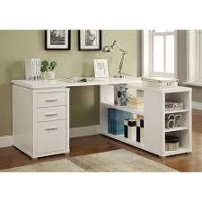 computer desk with shelves white coaster shape home office computer desk coaster yvette collection l