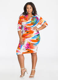 colorful dress plus size dresses colorful print multi way plus size dress