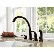 kitchen faucet with soap dispenser get a kitchen sink faucet delta venetian bronze finish pilar modern single handle kitchen faucet with side spray and deck mount