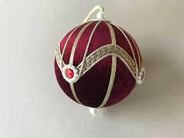 vintage velvet ornament tree ornament and