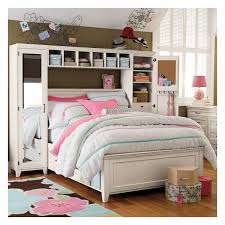 pb teen hampton storage bed u0026 vanity tower set bed hutch left