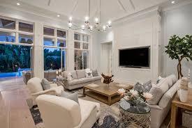 cottage livingroom cottage living room with hardwood floors chandelier in naples