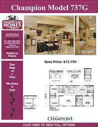 Champion Modular Homes Floor Plans by Champion 737 G Showcase Homes Of Maine Bangor Me