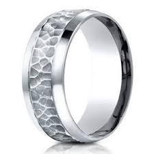 mens hammered wedding bands hammered finish designer s 950 platinum wedding band 7 5mm