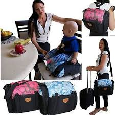 Bag High Chair Change Baby Bag Travel Nappy Backpack Portable Bed Cot Booster