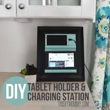 build a charging station make a counter top phone charging station tablet holder from a