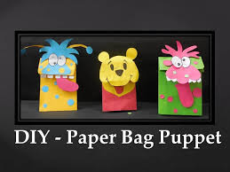 diy how to make paper bag puppet youtube