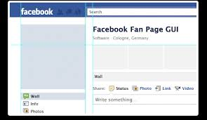 facebook fan page gui in photoshop with psd for free download