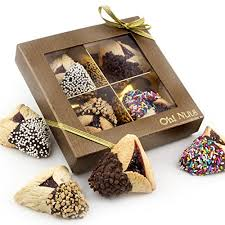 oh nuts purim baskets purim gift purim hamantasch gift chocolate dipped hamantashen