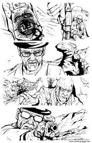 breaking bad comic strip coloring pages printable