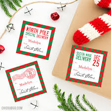 personalized christmas pole special delivery personalized christmas gift stickers