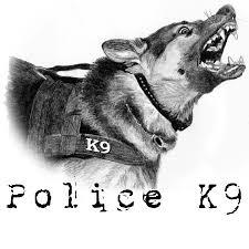 k9 police drawings