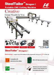 steeltailor dragonii portable gantry cnc cutting machine