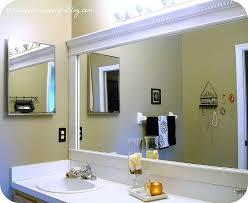 bathroom mirror trim ideas how to charming bathroom mirror frame ideas for your house in