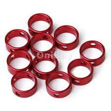 Awning Guy 10 Red Aluminum Alloy Tent Awning Cord Fastener Guy Line