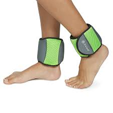 amazon com gaiam fitness ankle weights 5lb set sports u0026 outdoors