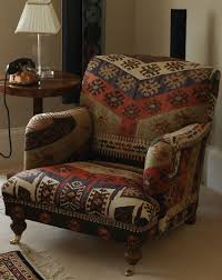 Kilim Armchair Cabin Rustic Lodge Mtn Ray Cube Kilim Ottoman On Cabin Rugs On Sale