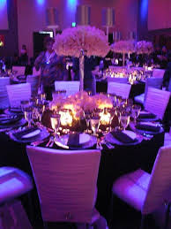 Purple Chair Sashes Purple And Silver Reception Table Decor Weddingbee