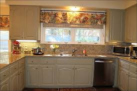 Kitchen Cabinet Curtains Burlap Kitchen Curtains Burlap Valance With Tattered Ruffle By On
