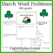 march math word problems u2013 4th grade u2013 cynces place