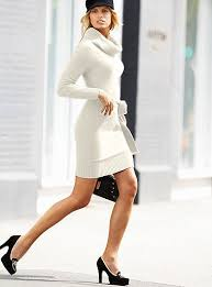 sweater dress and white turtleneck dress and heels great sweater dress s