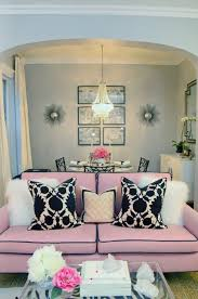 Pink Sofa Pale Ice Blue Living Room Erin Gates Via Decorpad - Decor pad living room