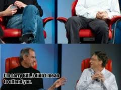 Bill Gates Steve Jobs Meme - bill gates trolls steve jobs weknowmemes