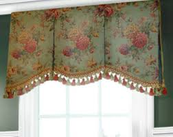 Board Mounted Valances Valance With Tassels Etsy