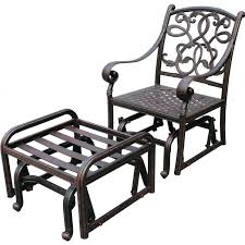 Aluminum Outdoor Patio Furniture by Darlee Santa Monica Cast Aluminum Patio Glider Club Chair With
