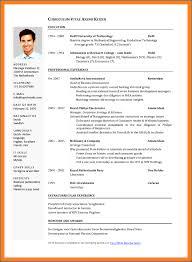 curriculum vitae templates for word 9 curriculum vitae sle word sleresumeformats234