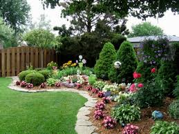 beautiful backyard with flowers house design and planning
