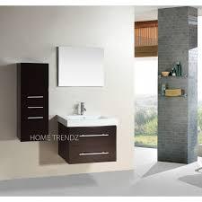 Wall Mounted Bathroom Vanity Cabinets Inch Wall Mounted Single Espresso Wood Bathroom Vanity Include