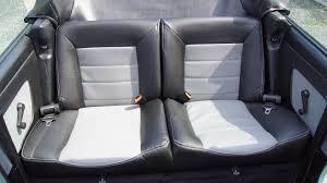 couvre siege cuir golf cabriolet mk1 siége de cuir artificiel couvre en noir gris