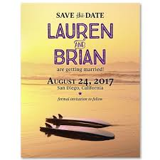 save the date wedding invitations surf save the date on recycled paper california surfboards by