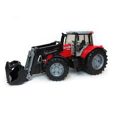 16th massey ferguson 7624 tractor with front end loader bucket