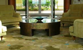 parsons round coffee table perry luxe