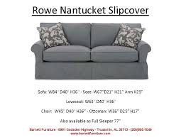 average size of couch rowe nantucket slipcover sofa 2 cushion you choose the fabric