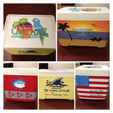 How To Paint American Flag Custom Frat Painted Cooler Margaritaville Beach Southern Tide