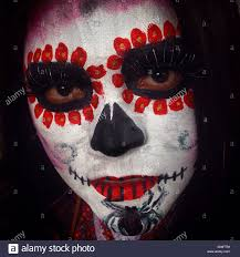 catrina in mexico city the day of the dead celebration mixes
