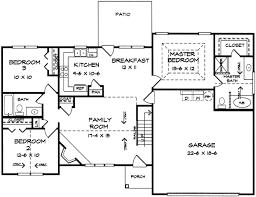 3 bedroom ranch floor plans logical bedroom 3653dk f1 3 ranch house plans hedia
