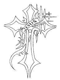 jesus cross tattoo request ver 1 line by waruijanai on deviantart