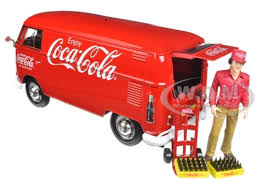 1963 volkswagen t1 coca cola cargo with delivery driver 1 24