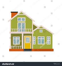 cute house designs illustration cute cartoon house facade simple stock vector