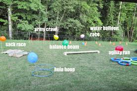 obstacle course in backyard home decorating interior design