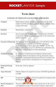 Term Sheet Template Sheet Term Sheet Template Term Sheets