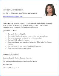 4 Resumes Samples For Teachers by 4 Resume For Teacher Job Fresher Manager Resume