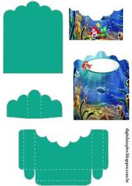mermaid free printable basket ariel