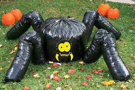 giant spider leaf bag over 7 feet halloween