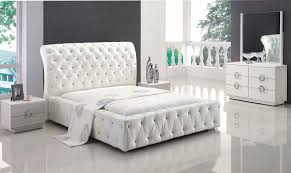 Bedrooms  Classic White Bedroom Furniture Home Decoration Modern - Modern white leather bedroom set
